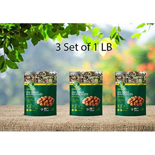 Raw Hazelnuts Natural Non-GMO, Premium Quality, Gluten-free, Kos...