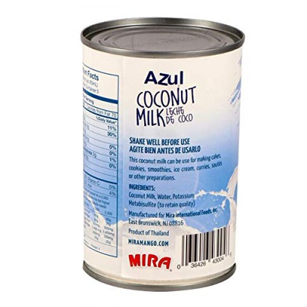 Azul Coconut Milk–Unsweetened Coconut Milk, Dairy & Gluten Free,...