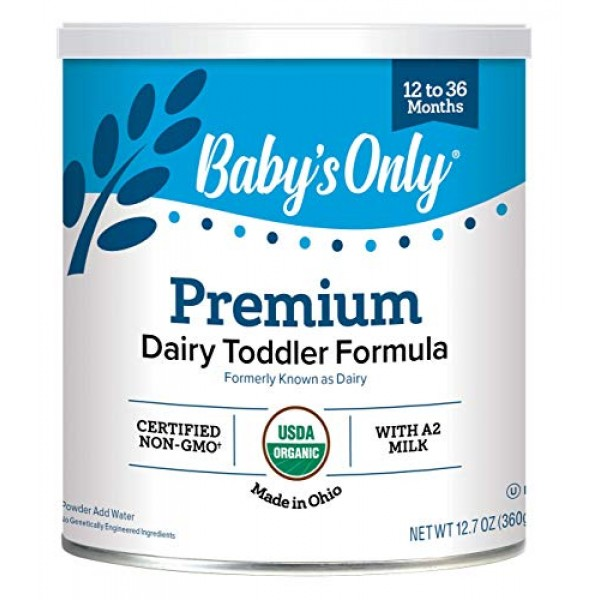 Babys Only Orga nic Toddler Formula, Dairy Dairy 12.6 Ounce