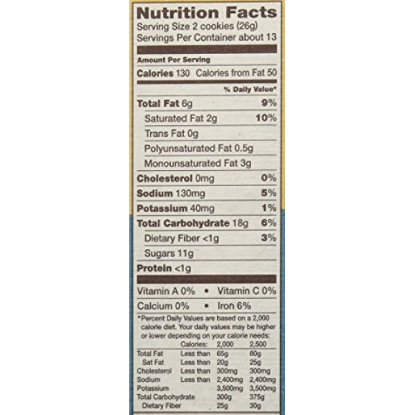 Back to Nature Cookies, Non-GMO Classic Creme, 12 Ounce Pack of...