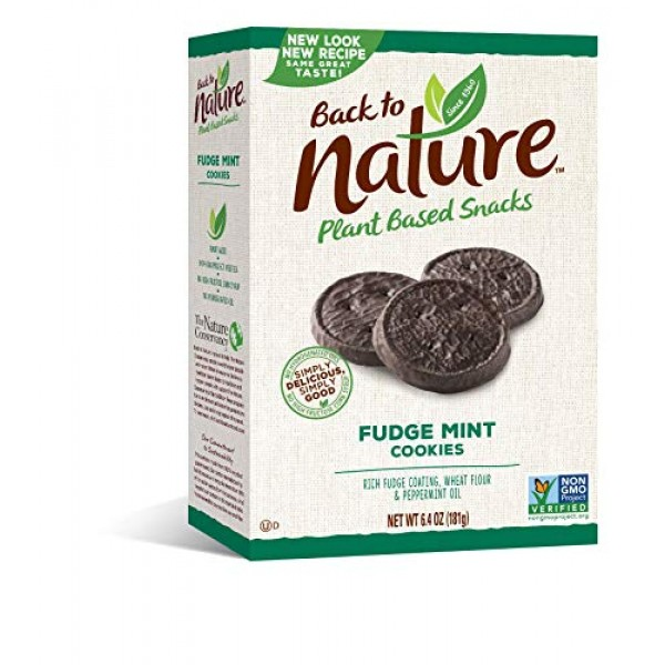 Back to Nature Cookies, Non-GMO Fudge Mint, 6.4 Ounce Packaging...