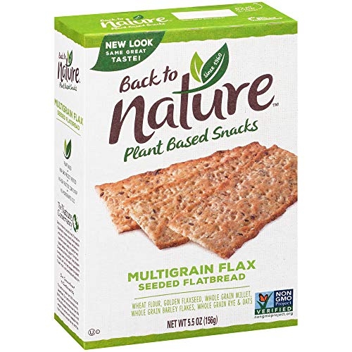 Back to Nature Crackers, Non-GMO Multigrain Flax Seed, 5.5 Ounce...