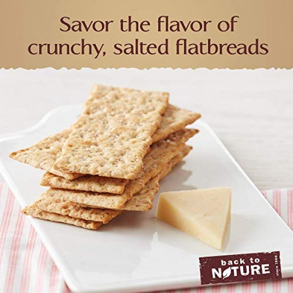 Back to Nature Crackers, Non-GMO Pink Himalayan Multigrain Flatb...