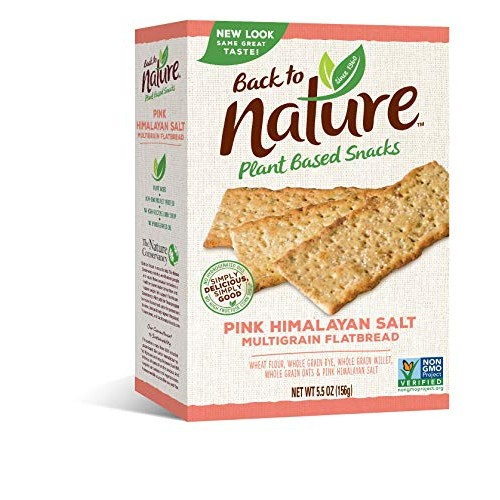 Back to Nature Crackers, Non-GMO Pink Himalayan Multigrain Flatb...