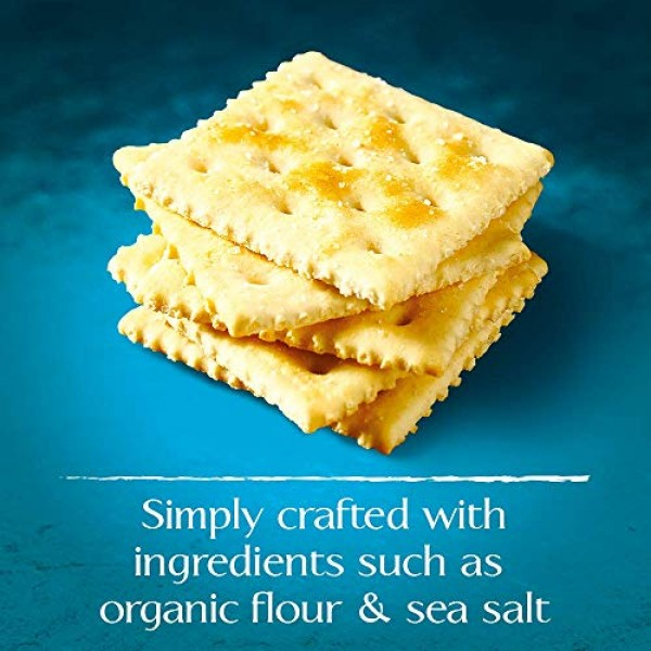 Back to Nature Crackers, Organic Saltine, 7 Ounce Pack of 6 P...