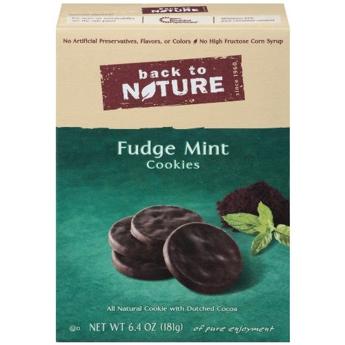 Back To Nature Fudge Mint Cookies, 6.4-Ounce Boxes Pack of 6