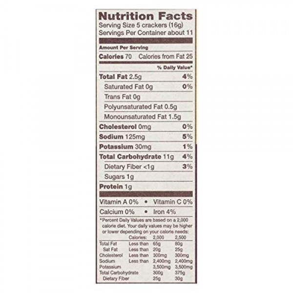 Back To Nature Organic Wheat Crackers Stoneground 6 Ounce Pack ...