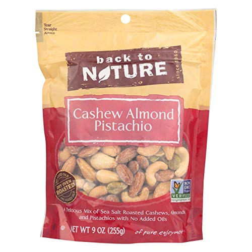 Back to Nature Trail Mix, Non-GMO Cashew Almond Pistachio Blend,...