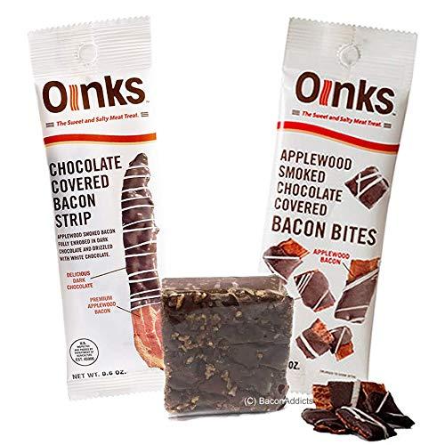 Genesee Bacon Chocolate Sampler 3pc Gift Set - Bacon Bites, Ba...