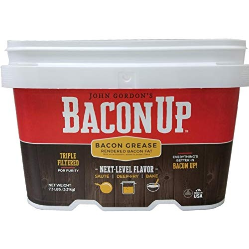 Bacon Up Bacon Grease Rendered Bacon Fat for Frying, Cooking, Ba...