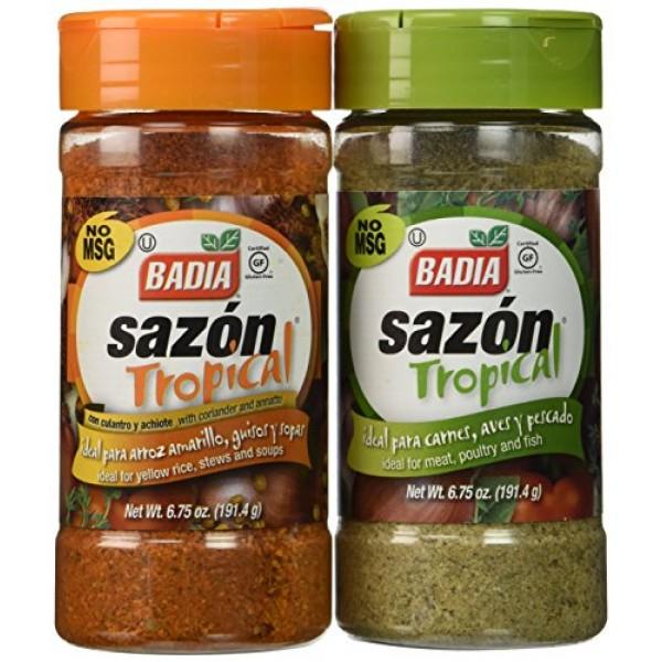 Badia Sazon Tropical Bundle - 6.75 Oz Each