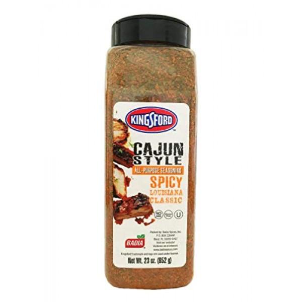 23 oz Jar Kingsford Cajun Style All Purpose seasoning Spicy Lous...