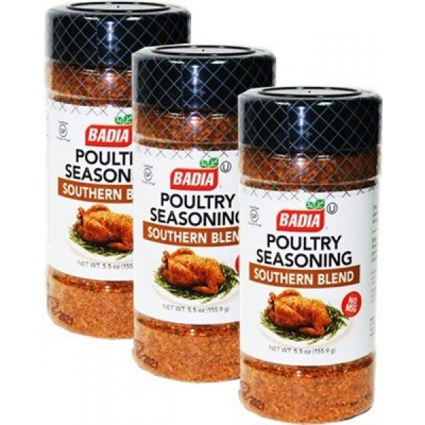 Badia Poultry Seasoning Southern Blend No MSG 5.5 oz Pack of 3
