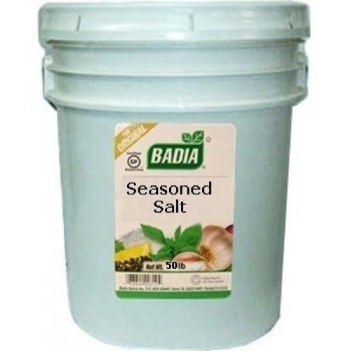 Badia Seasoned Salt 50 lbs Pail Institutional Size