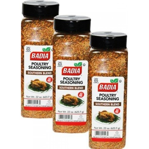 Badia Poultry Seasoning Southern Blend No MSG 22 oz Pack of 3