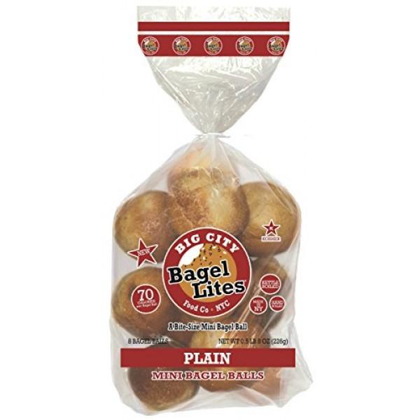 48 Bagel Lites Fresh, NYC mini bagel balls- PLAIN 6 PACK