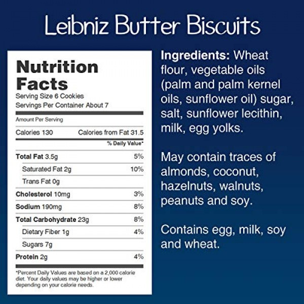 Bahlsen Leibniz Butter Biscuit Cookies 6 boxes   Our classic o...