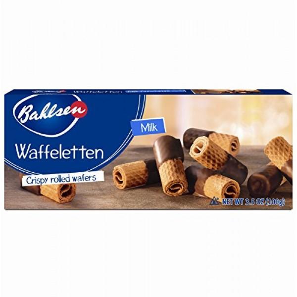 Bahlsen Waffeletten Milk Chocolate Dipped Cookies 1 box - Deli...