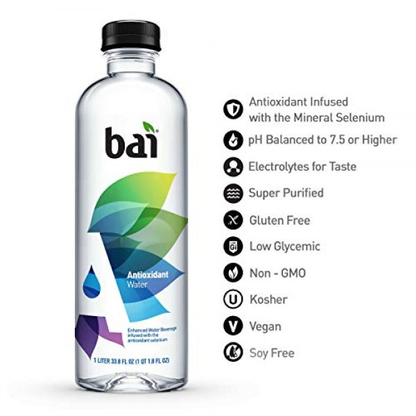 Bai Antioxidant Water, Infused with the Antioxidant Mineral Sele...