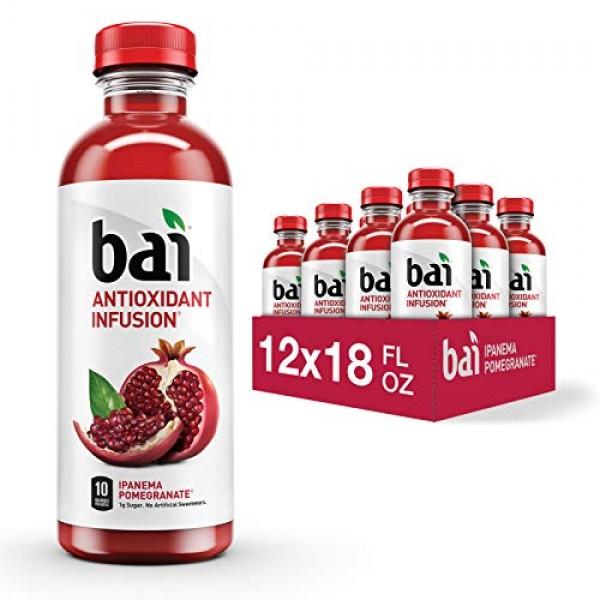 Bai Flavored Water, Ipanema Pomegranate, Antioxidant Infused Dri...