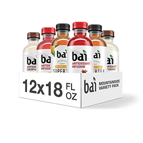 Bai Flavored Water, Mountainside Variety Pack, Antioxidant Infus...