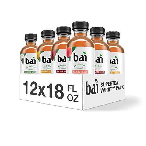 Bai Iced Tea, Supertea Variety Pack, Crafted with Black Tea and ...