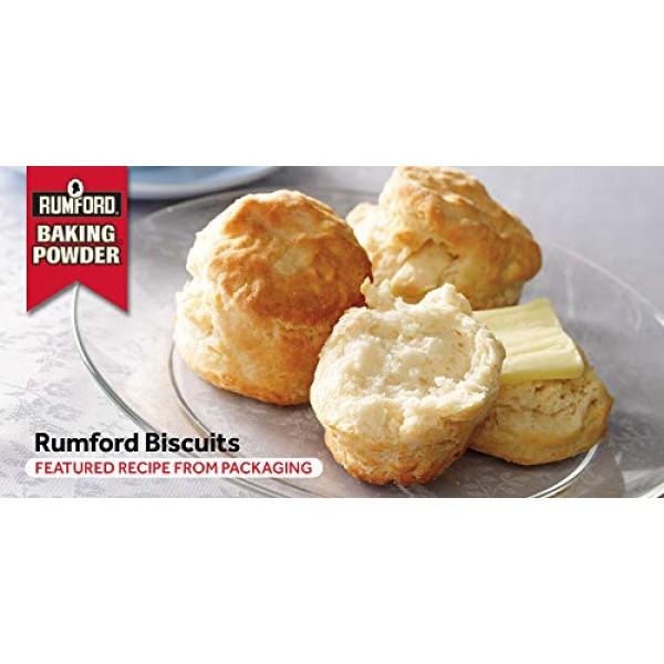 Rumford Baking Powder 4 oz, NON-GMO, Gluten Free, Vegan, Vegetar...