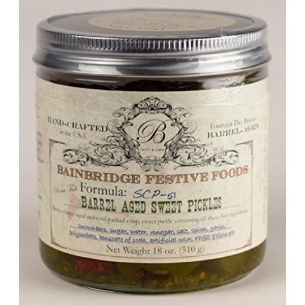 BainbBridge Barrel-Aged Sweet Pickles - 18 Oz