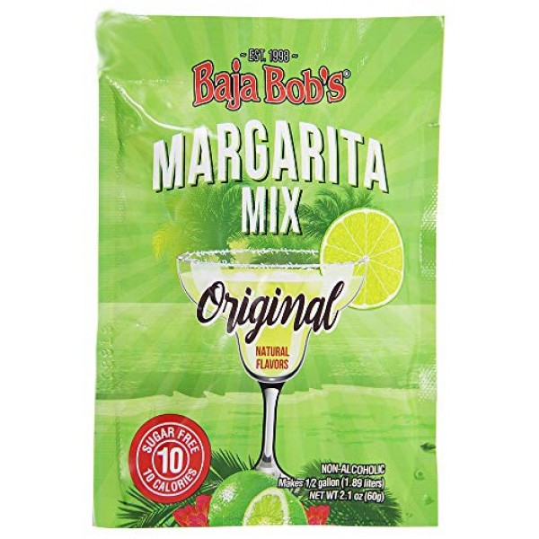 Baja Bobs Original Margarita Party Powder Packet Makes 1/2 Gal...