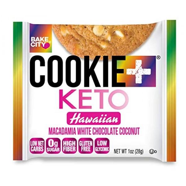 Bake City Cookie Plus Keto | 1oz Hawaiian Cookies 12 pack, Glu...