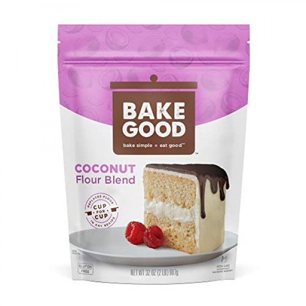 BakeGood Coconut Flour Blend, 2lb, 1-to-1 Replacement for All Pu...