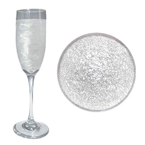 White Beer & Beverage Glitter | 4 Gram Jar | Edible Food Grade B...