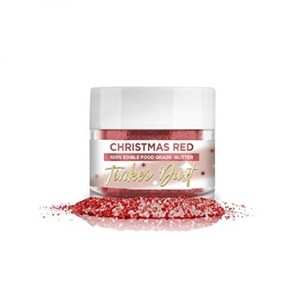 BAKELL Christmas Red & Green Edible Glitter Set | TINKER DUST Ed...