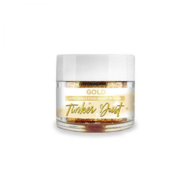 BAKELL Gold Edible Glitter, 5 Gram | TINKER DUST Edible Glitter ...