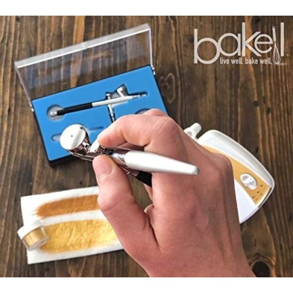 BAKELL Gold Pearl Edible Luster Dust & Paint, 4 Gram   LUSTER DU...