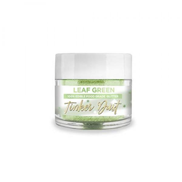 BAKELL Leaf Green Edible Glitter, 5 Gram | TINKER DUST Edible Gl...