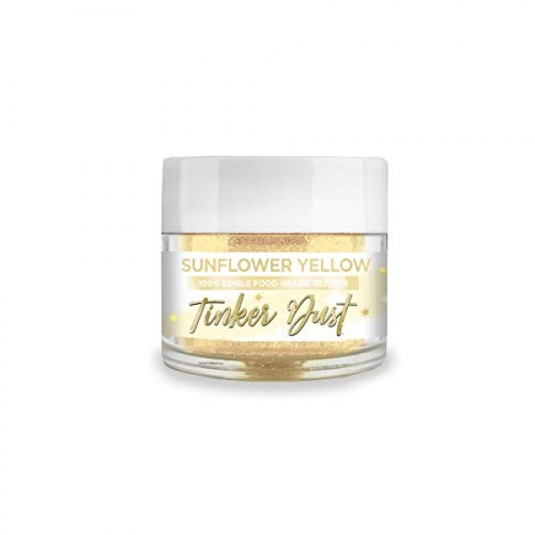 BAKELL Sunflower Yellow Edible Glitter, 5 Gram   TINKER DUST Edi...