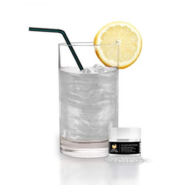 Brew GlitterClear Pearl Sparkle Edible Glitter for Drinks, Coc...