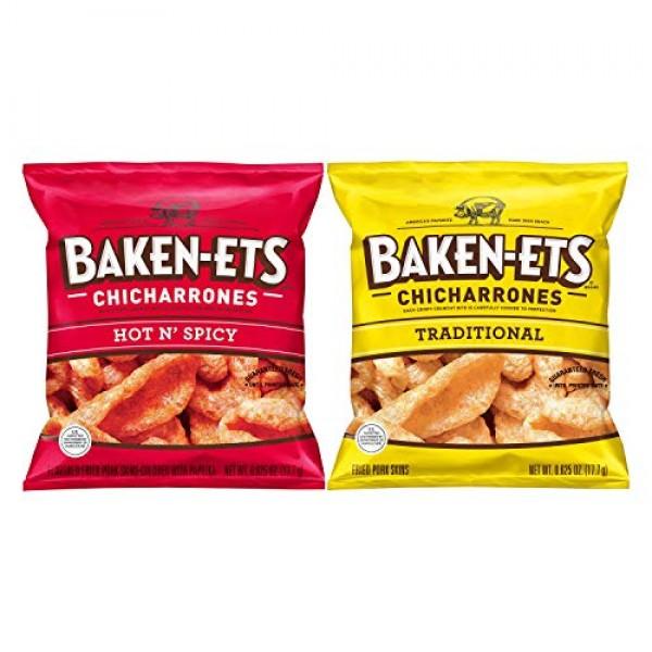 Baken-Ets Pork Skins, Chicharrones, Variety Pack 0.625oz Bags 2...
