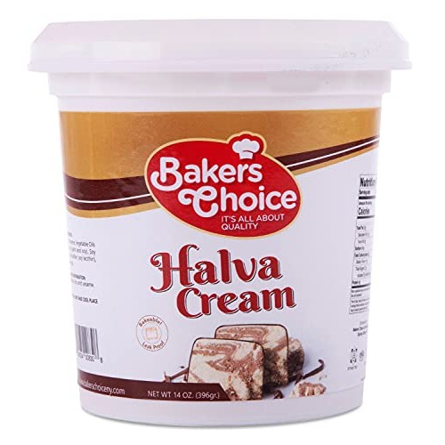 Halva Cream Pastry Filling, 14 oz. - Cake, Donut and Dessert Top...