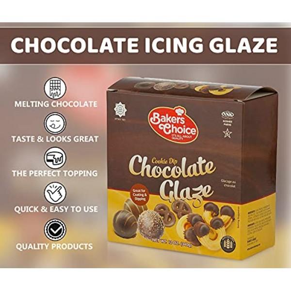 Chocolate Icing Glaze, 12 oz. - Microwavable Melting Chocolate F...