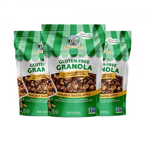 Bakery On Main Gluten-Free, Non GMO Granola, Walnut Raisin Apple...