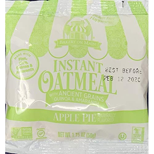 Bakery on Main Gluten Free Whole Lotta Oatmeal Packets, Apple Pi...