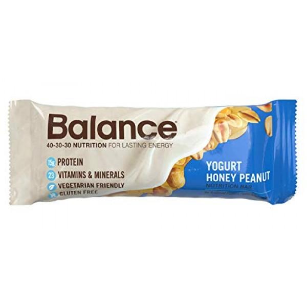 Balance Bar, Healthy Protein Snacks, Yogurt Honey Peanut, 1.76 o...
