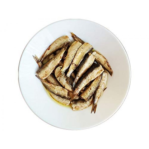 Smoked Riga Sprats in oil wild caught Baltic Gold 5.7 Ounce...