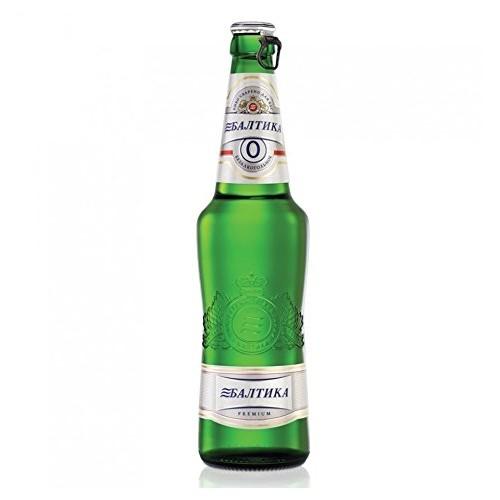 Baltika #0 Russian Beer Non-Alcoholic Malt Beverage (5 bottles)