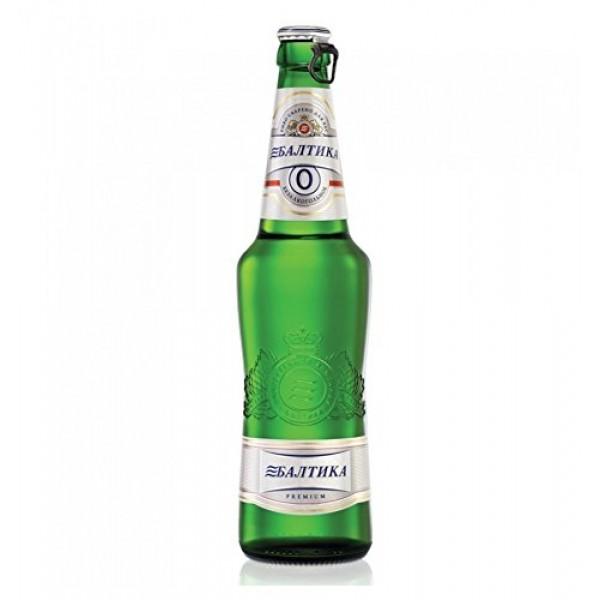 Baltika #0 Russian Beer Non-Alcoholic Malt Beverage 6 bottles