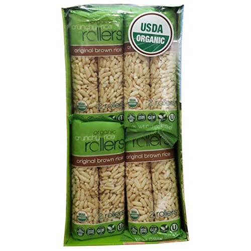Crunchy Rollers Rice Rollers - Organic Brown Rice, 0.9 oz 16 Pa...