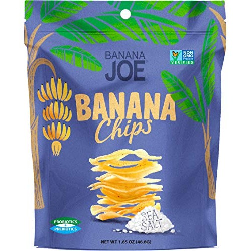 BANANA JOE Sea Salt Banana Chips, 1.65 Ounce
