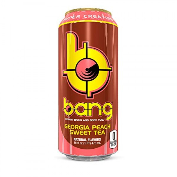Bang Energy Drink, Georgia Sweet Tea, 16oz Cans 12 Pack